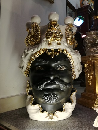Testa Di Moro Ceramica Verus.Etnae Retro Rigattiere Ceramiche